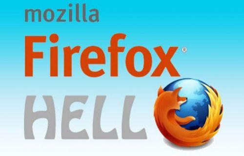 Firefox Hello, görüntülü görüşme imkanı sunarken kullanıcıyı kayıt derdinden kurtarıyor!