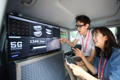 Samsung, 5G'de 7,5 Gbps'lik rekor hıza ulaştı!