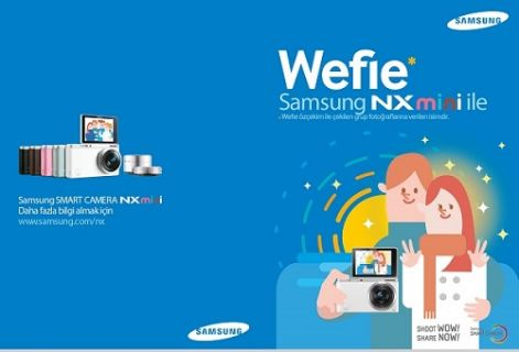 En iddialı 'Wefie'yi Samsung NX Mini ile yakalayın