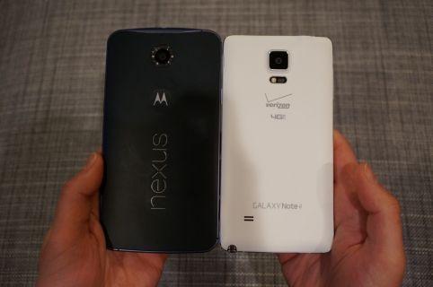 Nexus 6'ya göre Nexus 5, DROID Turbo, Galaxy Note 4 ve diğerleri (Video)