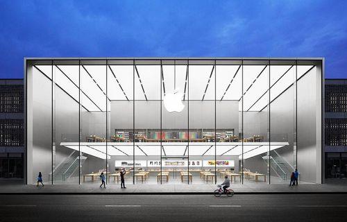 Asya'daki en büyük Apple Store Çin'de açıldı