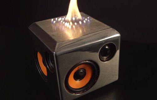 Müziğin ritmine göre alev çıkaran Bluetooth hoparlör [video]