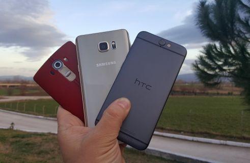 HTC One A9, Galaxy Note 5 ve LG G4 karşılaştırma